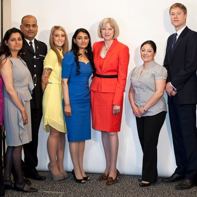 Aneeta Prem with Home Secretary