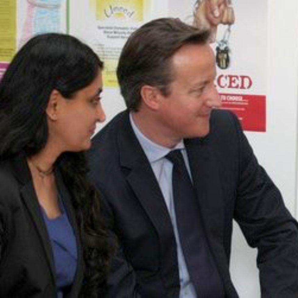 Aneeta Prem with Prime Minister David Cameron