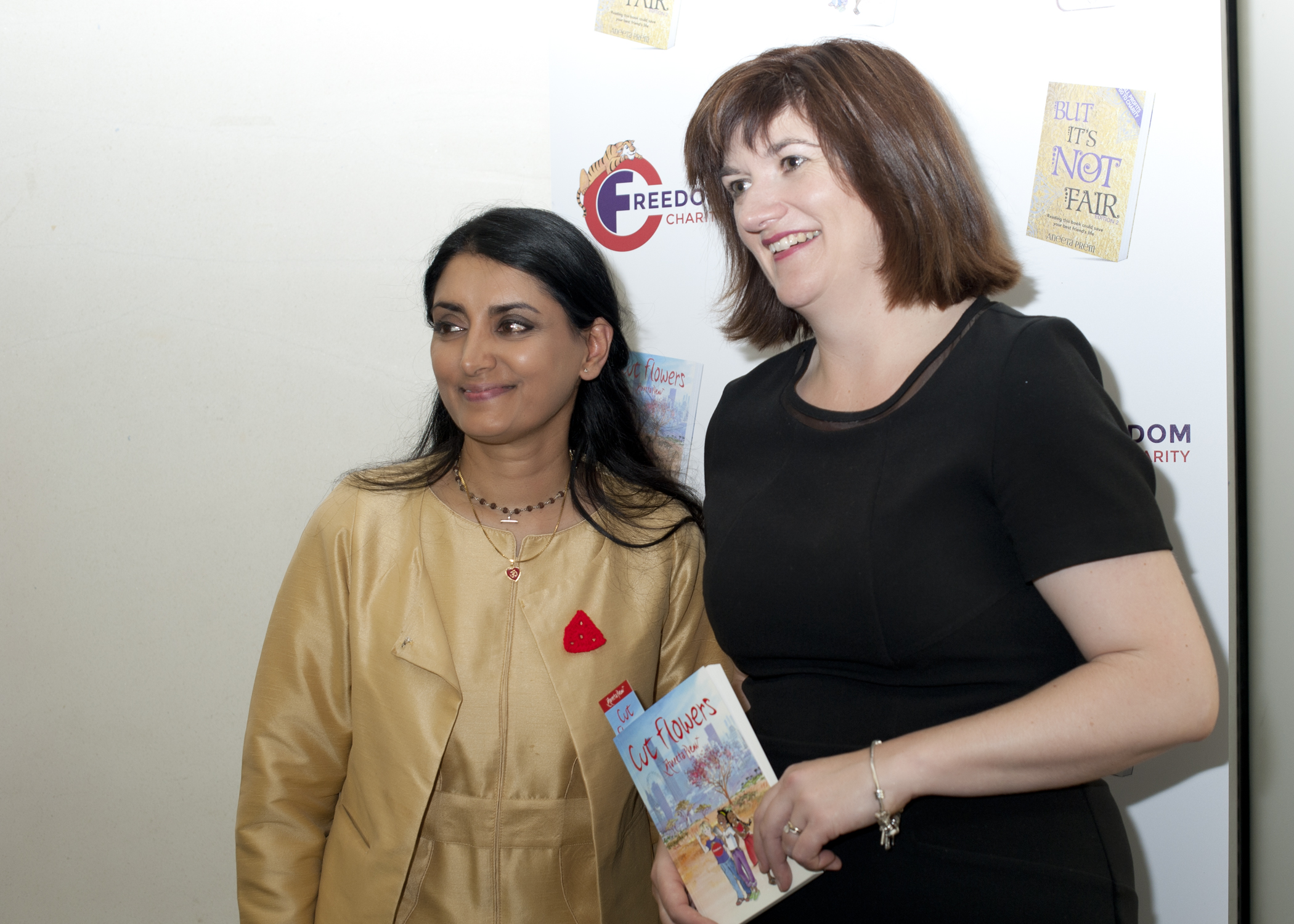 Aneeta Prem and Nicky Morgan, Cut Flowers presentation