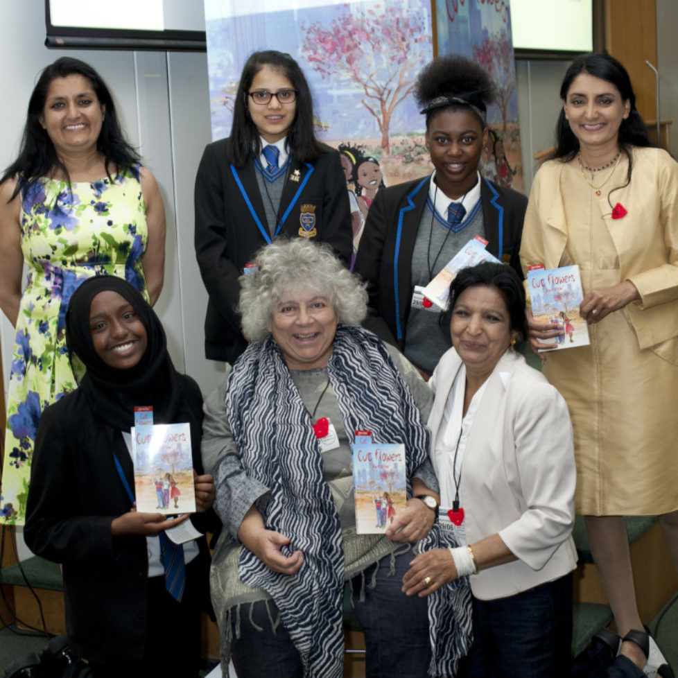 Miriam Margolyes, Aneeta Prem and Vineeta Thornhill, Cut Flowers Presentation