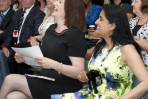 Nicky Morgan MP and Vineeta Thornhill, Cut Flowers Presentation