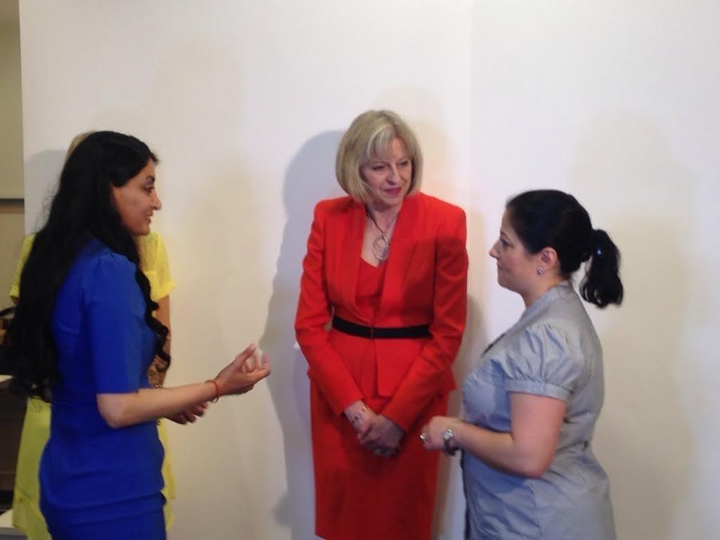 Aneeta and Theresa May talking 2