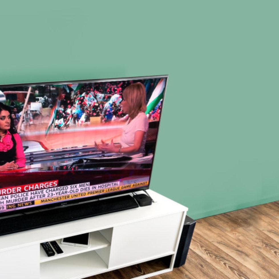 tv mockup green